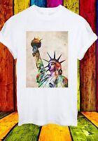 Statue of Liberty Manhattan New York City USA World Men Women Unisex T-shirt 662