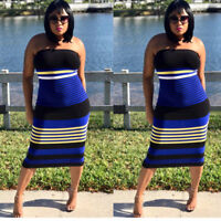 be8e405b785 Women club party stripes casual off shoulder bodycon package hips knee dress