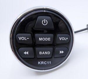 Kicker KRC11 Marine Wired Remote Control 2 Inch Black Silver w/Bracket Boat