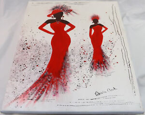 Original Art 'Ladies Day Red' Acrylic On Canvass Painting Patricia May Clark