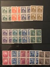 Venezuela Small Group Of 28 MNH Blocks Of Four
