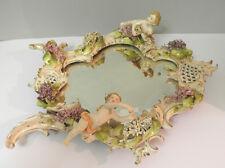 Seltener großer Spiegel, Porzellan, Rokoko, XIX Jh. F916