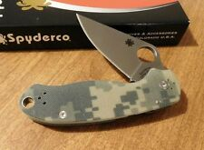 SPYDERCO New Camo G-10 Handle Para Military 3 Plain S30V Blade Knife/Knives