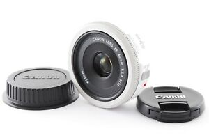 Canon EF 40mm F/2.8 STM Pancake Lens White Color [Excellent from Japan F/S