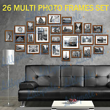 Large Multi Picture Photo Frames Wall Set 13/20/23/26pcs Art Deco Home Gift 26pieces Brown