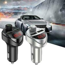 Usb Charger Car Accessories Handsfree Fm Transmitter Bluetooth Hands Free 2 Port