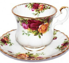ROYAL ALBERT ART. 2467- N°6 TAZZE CAFFE' 0.15 LTR CON PIATTINO OLD COUNTRY ROSES