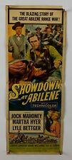 SHOWDOWN AT ABILENE Movie Poster (VeryGood-) Insert 1956 Cowboy Western 585