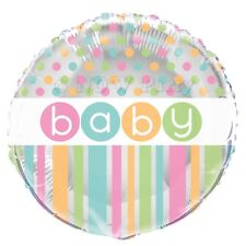 """Baby Shower UNISEX Pastel Party Decorations Girls Boys Foil Balloon 18"""""""