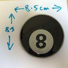 NEW - 8 BALL POOL BLACK COLOUR ENAMEL BELT BUCKLE - TAKES 4CM BELT