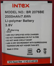 100% QUALITY REPLACEMENT (BR-2076BE) BATTERY FOR INTEX AQUA STAR 2 (2000 mAh)