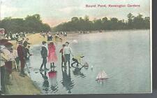 c1909 Round Pond Kensington Gardens London England Uk Postcard