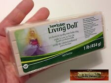 M00383 MOREZMORE 1 lb Living Doll LIGHT Polymer Clay Super Sculpey T20A