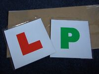 Brand New pack of two L Plates & P Plates - magnetic