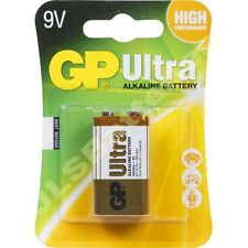 20 x GP ULTRA 9V Batteries MN1604 6LR61 PP3 BLOCK 6LF22 ALKALINE