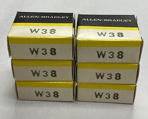 Allen-Bradley W38 Heater Lot Of 6 NOS