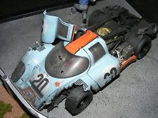 GULF PORSCHE 917 CRASH DIORAMA, MOVIE  LE MANS  1/18