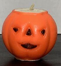 Vtg Gurley Pumpkin Head Jack-O-Lantern Collectible Orange Candle Halloween