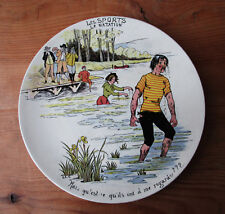 Ancienne assiette en faïence Les sports natation Creil Sarreguemines Lunéville ?