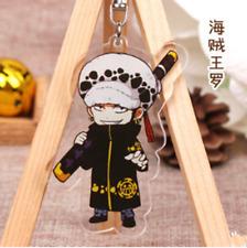 Hot Japan Anime ONE PIECE Trafalgar Law Acrylic Key Ring Pendant Keychain Gift
