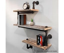 Pipe Shelf Rustic Industrial DIY Floating Snake Design Décor Wall Office Bedroom