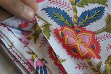 Handmade Sanganeri 3 Yards Hand Block Print Indian Natural Pure Cotton Fabric
