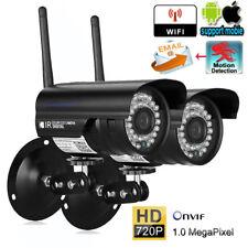 2x HD WLAN IP Kamera Außen Netzwerk WIFI ONVIF Nachtsicht Überwachungskamera EU