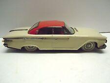 Big Rare Ichiko/RTC Japan Tin Friction 1961 Plymouth 2Dr Hardtop Car . WORKS.NR