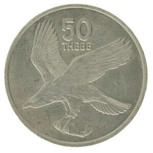 Botswana - Copper-Nickel 50 Thebe Coin - 1977 - AU