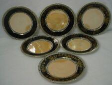 """NORITAKE china BUTTERFLY LUSTRE pattern SALAD PLATE 8-5/8"""" set of SIX (6)"""