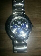 Fossil Blue BQ-9092 340104 Water Resistant 100 meter Dial Stainless Steel Watch