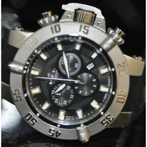 Invicta Men's Rare Subaqua Swiss Chronograph Black Dial Black Poly Watch 1194