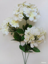 "1x 27"" White HYDRANGEA Stem Artificial Silk Flower Plant /H07"