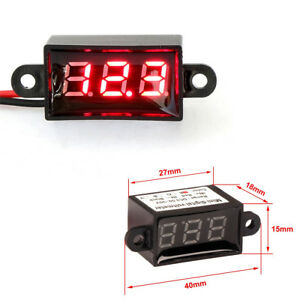 "Car Auto Micro 0.28"" Digital Voltmeter Red LED Waterproof Panel Meter DC3.5-30V"