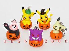 Takara Tomy Pokemon figure keychain Halloween gashapon (full set of 5 figures)