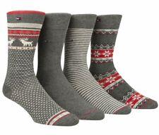 $58 Tommy Hilfiger Men'S 4-Pair Pack Gray Fair Isle Crew Dress Socks Shoe 7-12