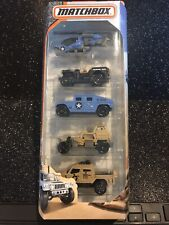 Matchbox~2016~Military~5 Pack~Hummer~Jeep~Helicopter~Heroic Vehicles~Clean