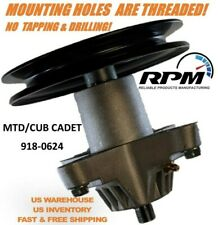CUB CADET MTD TROY-BILT 918-0624B SPINDLE ASSEMBLY TAPPED AND DRILLED! 918-0659
