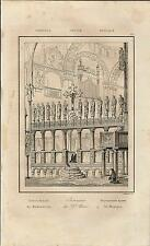 Stampa antica VENEZIA ALTARE Basilica di San MARCO 1835 Old antique print Venice