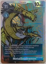 Digimon Card Game versión 1.0 MetalSeadramon juego de tarjetas coleccionables de arte alternativo