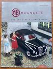 MG Magnette ZB 1956-58 UK Market Foldout Sales Brochure Duo-Tone Manual Part Bmc
