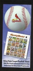 St Louis Cardinals--2000 Home Schedule--USPS Legends of Baseball