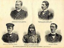 """Die beim Untergang der """"Iltis"""" um's Leben gekommenen Marine-Offiziere (1896)"""