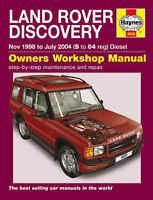 Land Rover Discovery Repair Manual Haynes Manual Workshop Manual 1998-2004 4606