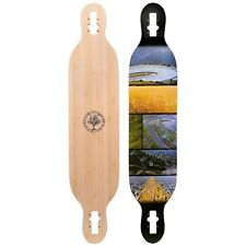 "2016 Woodstock Mojo Bamboo Drop Through 41.5"" Longboard Deck Only"