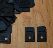 LOT 100 Micro SIM Card Adapter to Standard Size MicroSIM Converter 3FF 2FF Black