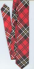 RED TARTAN NECK TIE- ADULT SIZE.