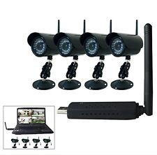 Digital Wireless 4 Video IR Camera Home Security CCTV System Network USB DVR