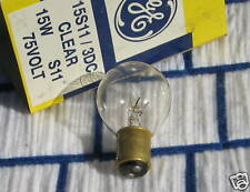 S11 GE 15 watt 75 volt 15s11/3dc light bulb Ba15d railway signal DCB 131889 ~NEW