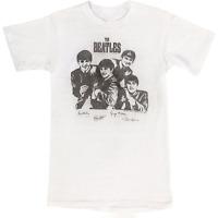Vintage The Beatles Men White Concert Tee Short Sleeve T-Shirt Size S-4XL KL424